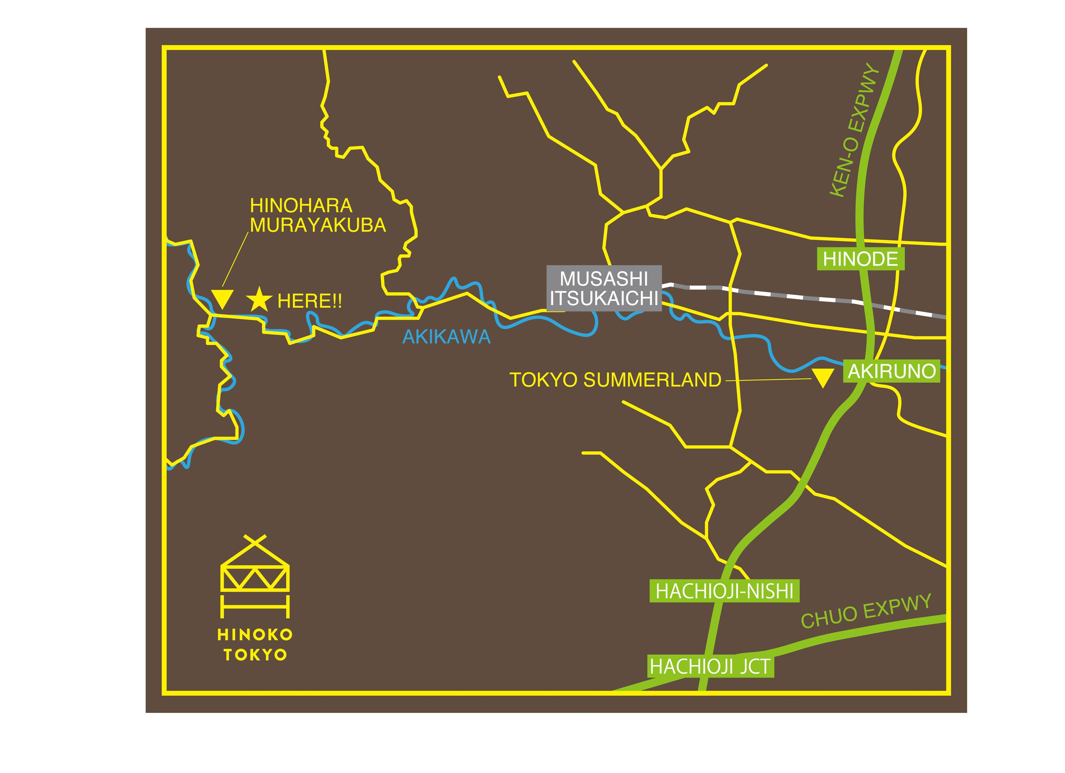 hinoko access map